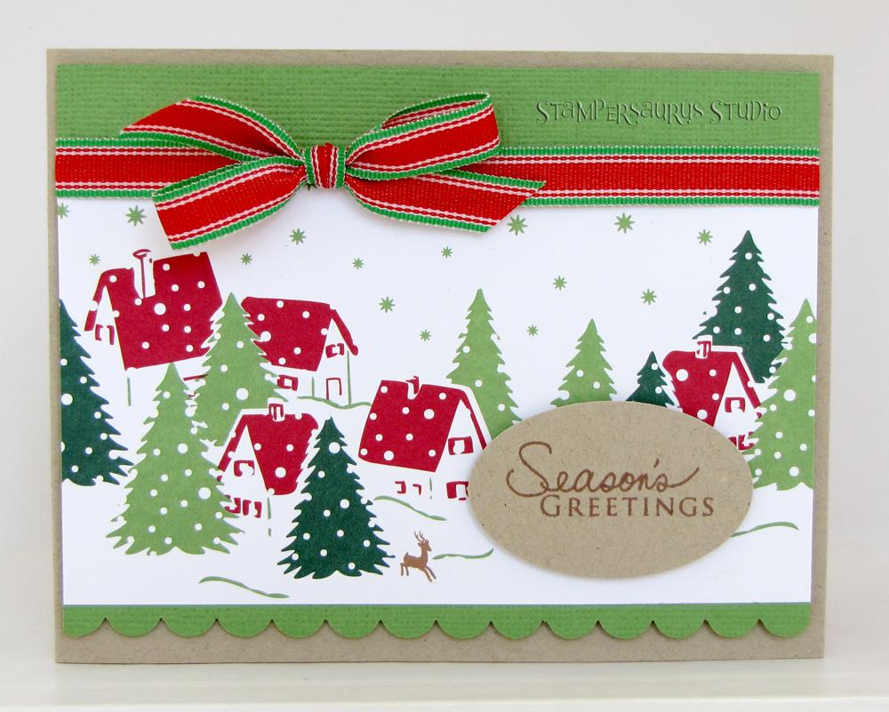 Seasons Greetings Card Stampersaurus Studio