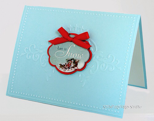 Embossed Christmas Card